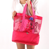 Double Layer Zipper Nylon Traveller Bag - Hot Pink