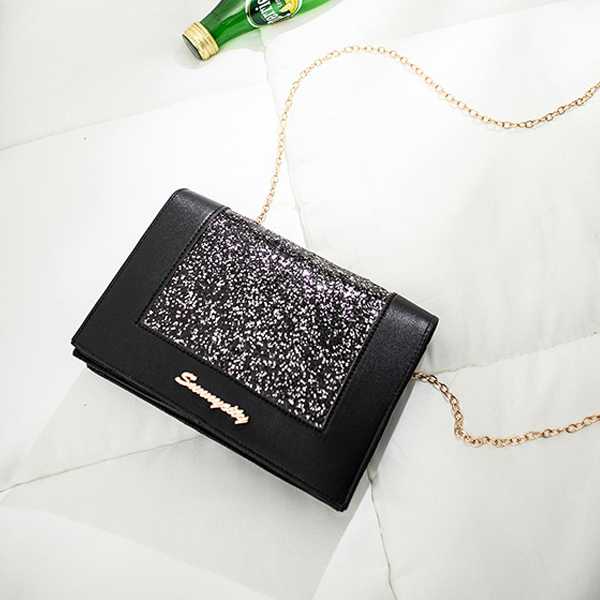 Party Special Chain Strapped Messenger Bags - Black