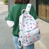 Shapes Printed White Canvas College Bags Set