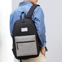 Zipper Closure Plain Mesh Pattern Backpacks - Black