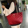 Patchwork Synthetic Leather Designer Shoulder Bags - Red