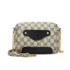 Printed Designers Chain Strapped Shoulder Bags - Black