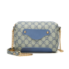 Printed Designers Chain Strapped Shoulder Bags - Blue