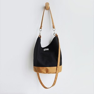 Creative Canvas Portable Modern Shoulder Bags - Black