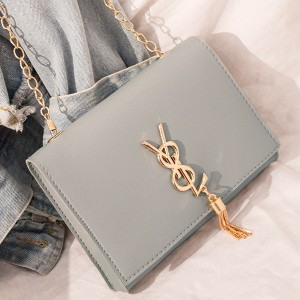 Designers Chain Strapped New Fashion Messenger Bag - Grey
