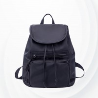 Casual Fashion Travel Backpack Ladies Shoulder Bags - Black