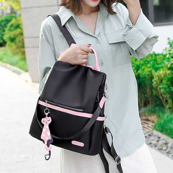 Canvas Shiny Designers Women Backpacks - Black
