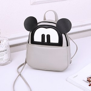 Micky Carved Cute Cartoon Mini Backpacks - Grey
