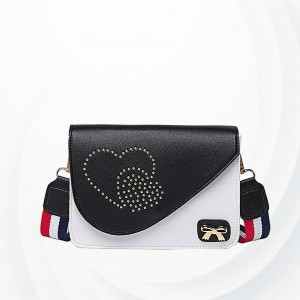Heart Touching Design Mini Messenger Bags - Black