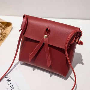 Ribbon Bow Shiny Square Messenger Bags - Red