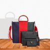 Fine Quality Grey Contrast Red Handbags Set