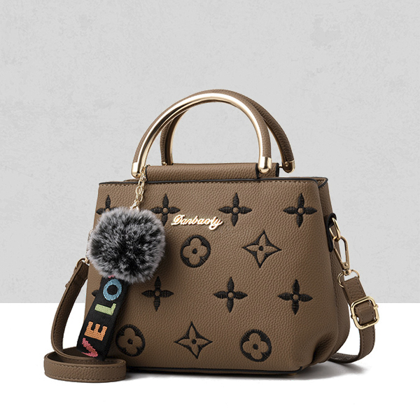 Designers Embroidered Exclusive Shoulder Bags - Brown