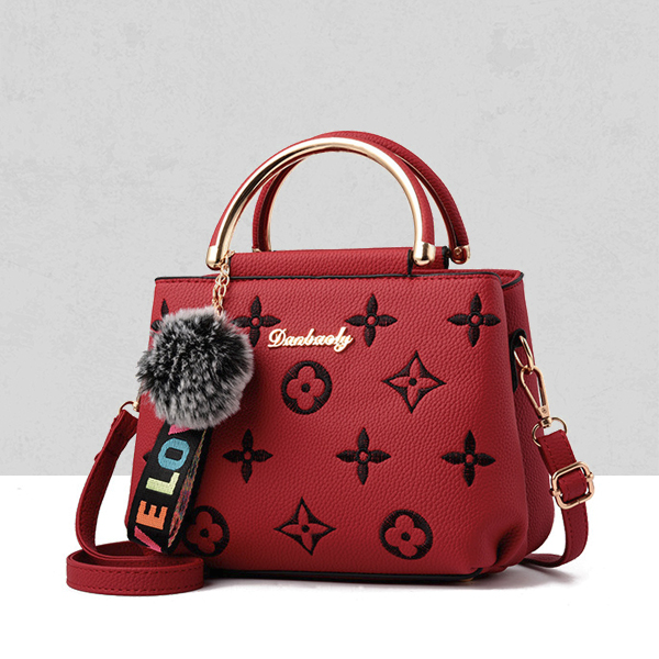 Designers Embroidered Exclusive Shoulder Bags - Red