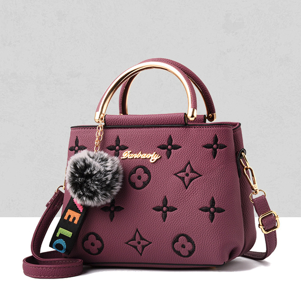 Designers Embroidered Exclusive Shoulder Bags - Purple