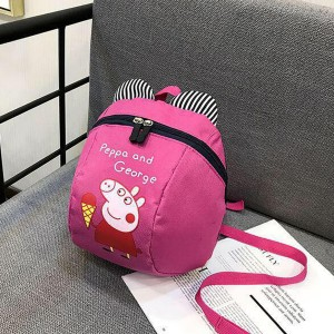 Children Cute Piggy Cartoon Prints Mini Backpack - Pink