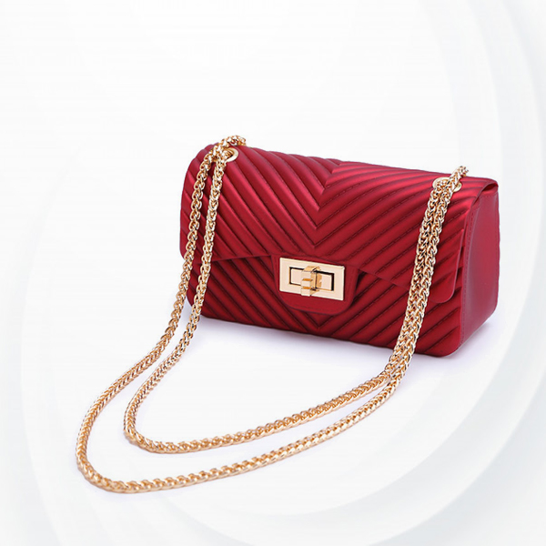 Rope Chain Party Collection Messenger Bags - Red