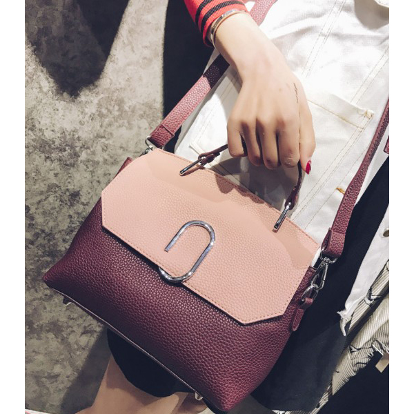 Casual Korean Cross Crossbody Bags Purple