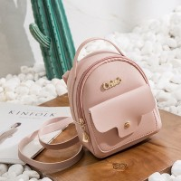Duo Purpose Mini Backpack And Shoulder Bags - Pink