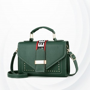 Luxury Brand Pu Leather Ladies Handbag - Green