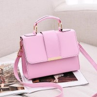 Office Collection Flap Closure Messenger Bag - Pink