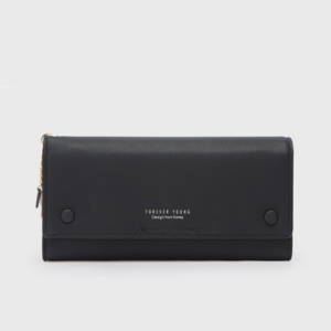 Titch Money Wallet With Handy Strap - Black