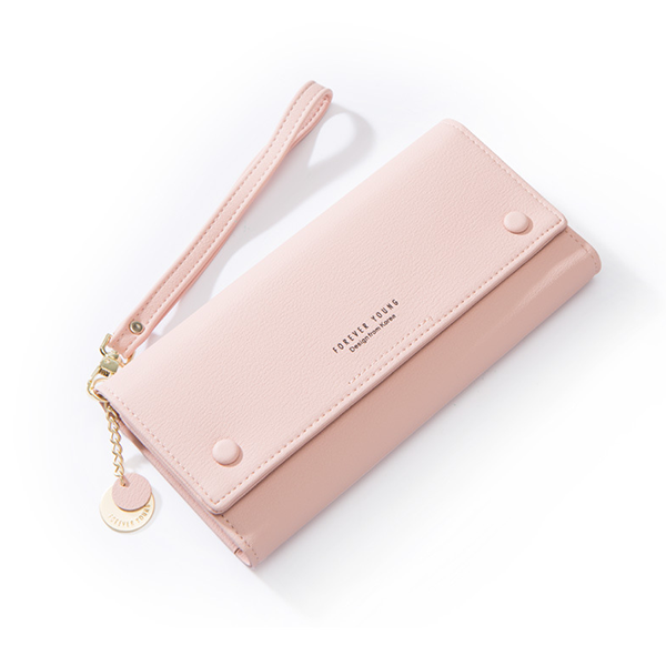 Titch Money Wallet With Handy Strap - Pink