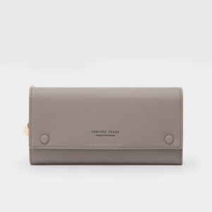 Titch Money Wallet With Handy Strap - Grey