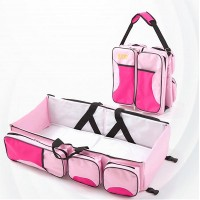 Portable Crib Newborn Mid Bed Mummy Bag - Pink