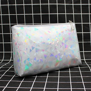 Zipper Square Holographic Unicorn Mini Cosmetics Bags - Grey
