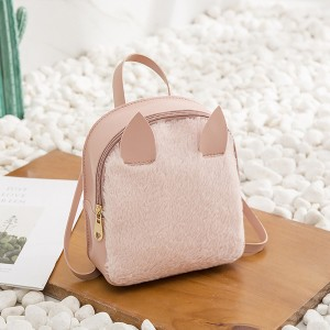 Wild Soft Furry Rabbit Mini Shoulder Bags - Pink