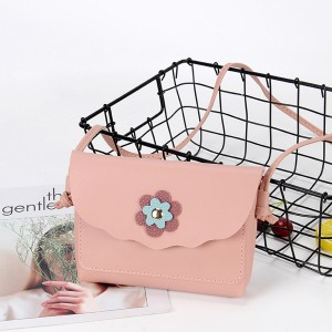 Flowers Patched Wavy Mini Messenger Bags - Pink