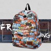 Multicolor Numerical Prints Student Backpacks