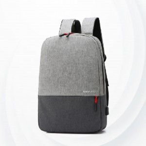 Contrast Zipper Closure Multi Pockets Backpacks - Gray