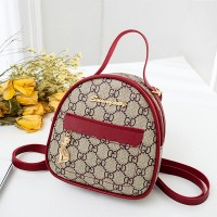 Rounded Shape Zipper Closure Designers Shoulder Bags - Red