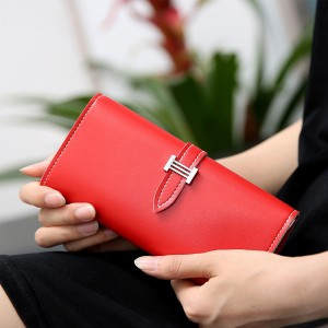 Buckle Style Foldable Smart Wallet - Red