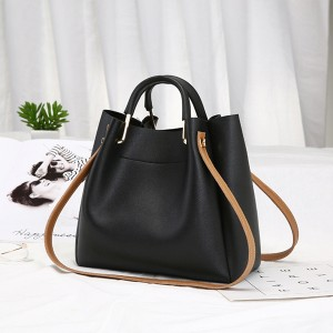 Zipper Closure Formal Vertical Shoulder Bags - Black