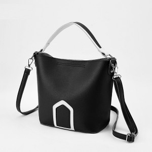 Multi Contrast Magnetic Closure Shoulder Bags - Black