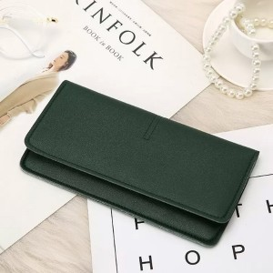 Titch Closure PU Leather Smart Money Wallet - Green