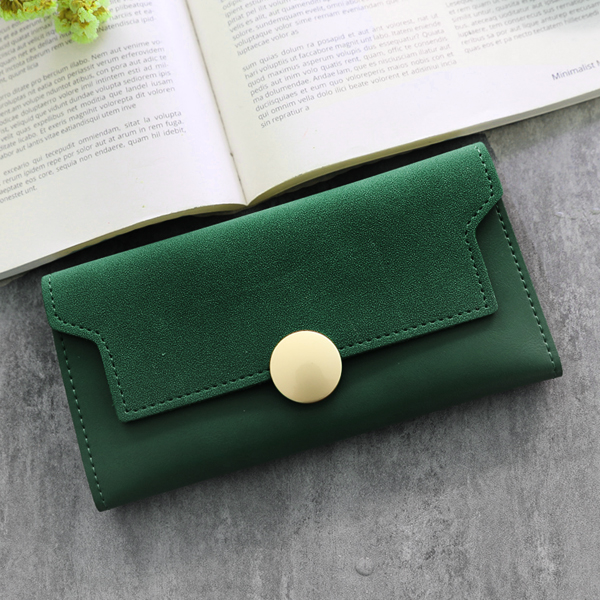 Classic Coin Patch Card And Money Wallet - Green