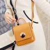 Hard Coated PU Leather Messenger Bags - Yellow
