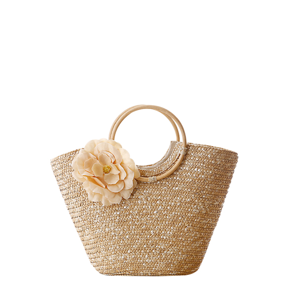 Hand Knitted With Flower Decorated Hand Bag 2017