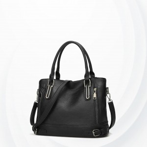 Formal Synthetic Leather Shoulder Bags - Black