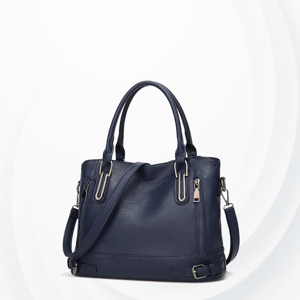 Formal Synthetic Leather Shoulder Bags - Blue
