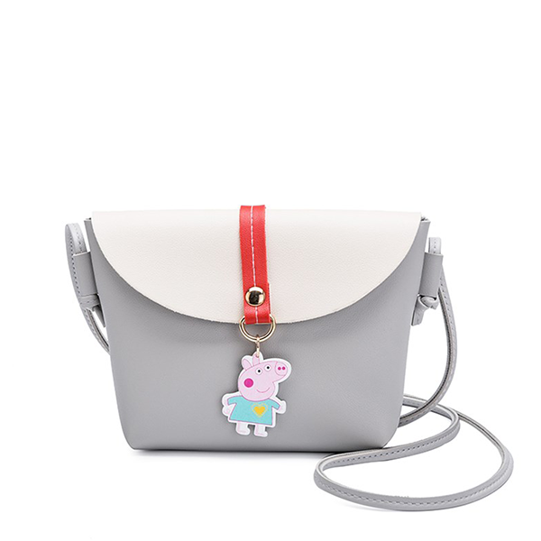 Cartoon Double Contrast Messenger Bags - Grey