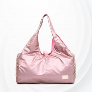 Lightweight Sports Solid Ladies Shoulder Yoga Bag - Pink