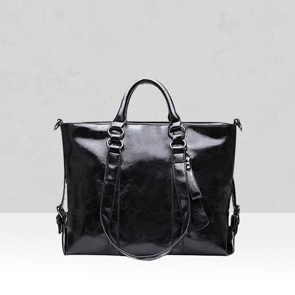 Shiny Black Shoulder Quality Handbags