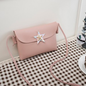 Star Patched Holographic Formal Messenger Bags - Pink