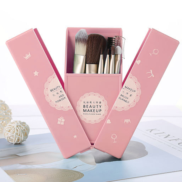 Quality Makeup Brushes Set With Mini Mirror - Pink
