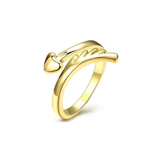 American Fashion Style Gold Pleated Ring Jewelery For Women