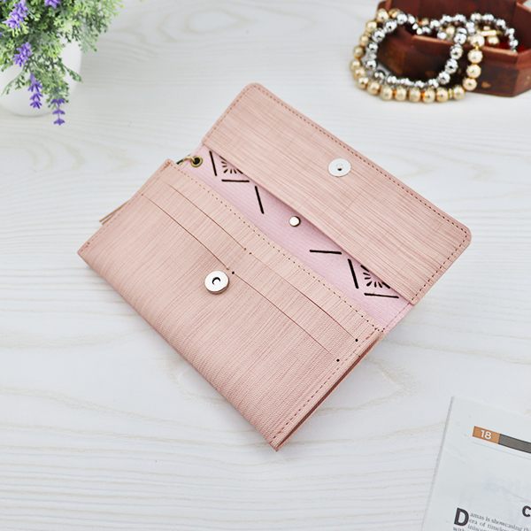 Flower Cut Out Hollow Money Wallet - Light Pink
